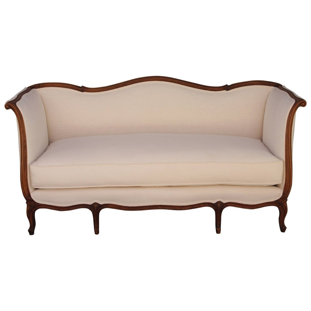 French Style Sofas Within Most Recent French Louis Xv Style Sofa With Linen Upholstery At 1Stdibs (View 10 of 20)