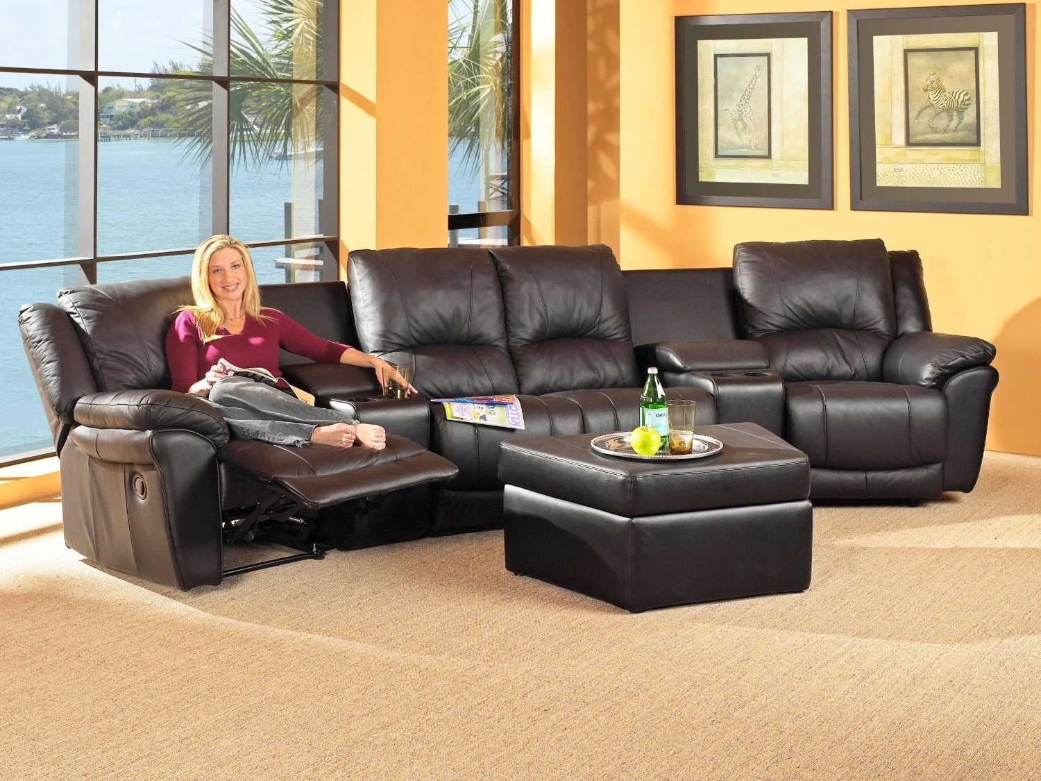 Fresh Reclining Sectional Sofas For Small Spaces 62 About Remodel Intended For Trendy Small Spaces Sectional Sofas (View 5 of 20)