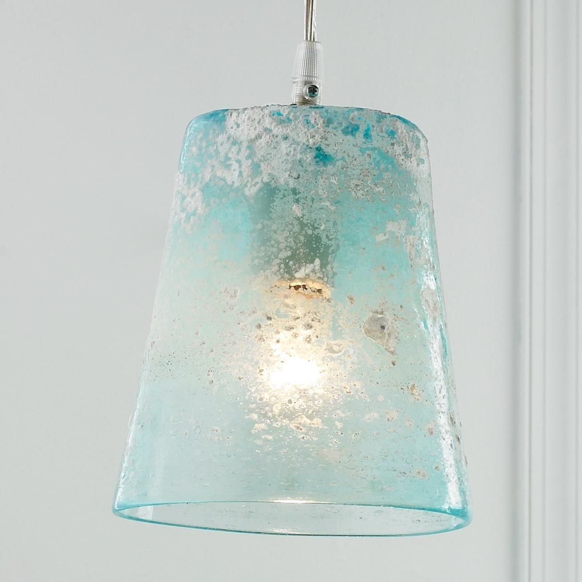 Frosted Glass, Glass Pendants And For Most Popular Turquoise Blue Glass Chandeliers (View 10 of 20)