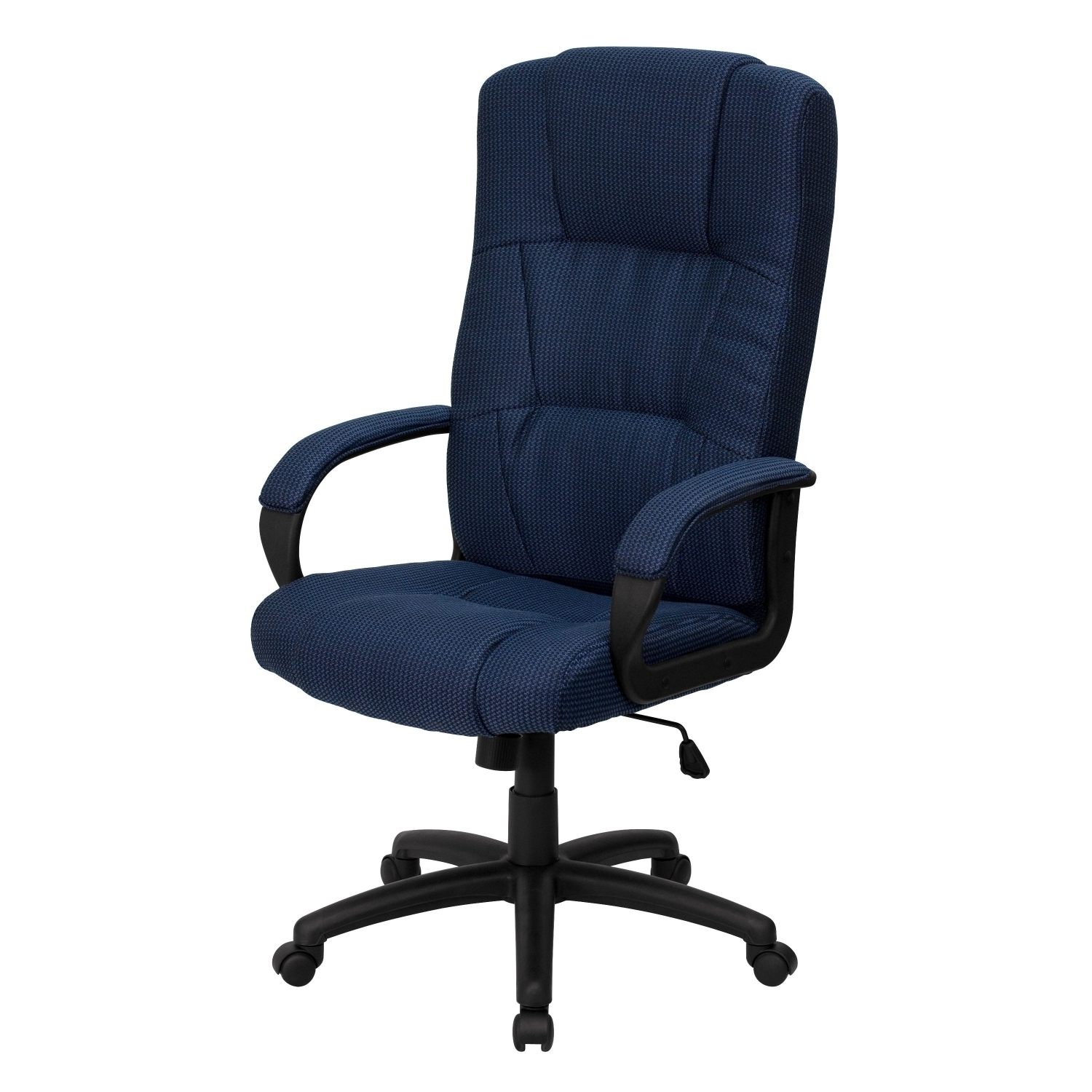 Furniture Bt 9022 Bl Gg High Back Navy Fabric Executive Office Chair With Regard To Famous
