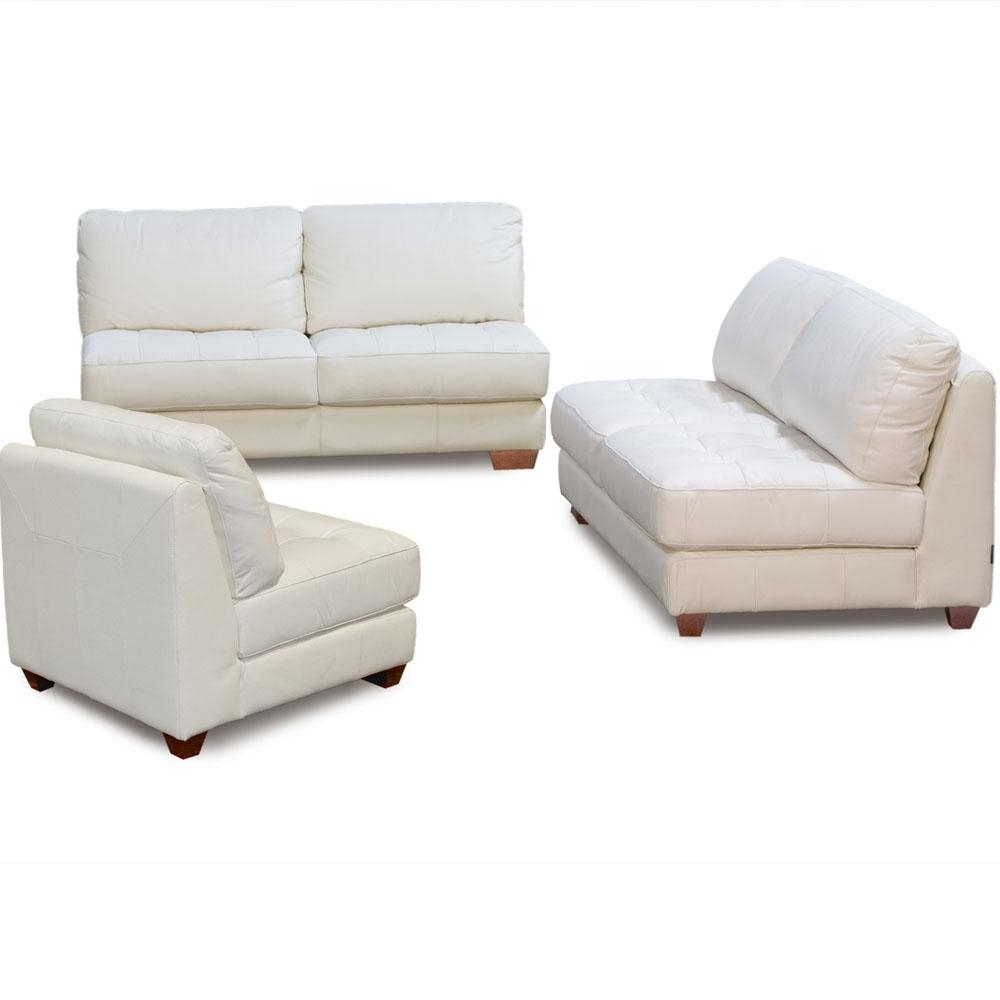 Furniture: Cool Armless Loveseat Design Ideas With Diamond Sofa Pertaining To Fashionable Armless Sectional Sofas (View 11 of 20)
