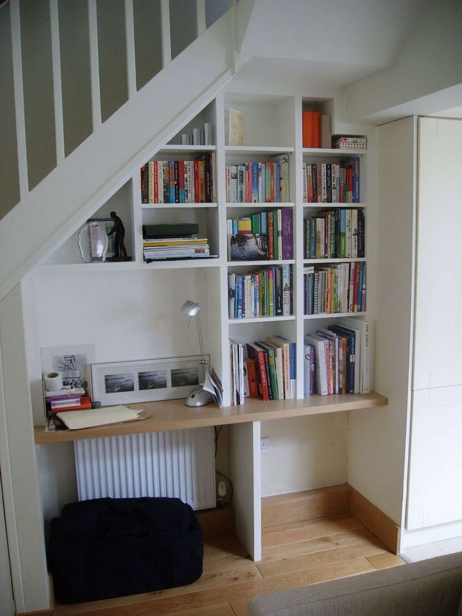 Furniture : Elegant Storage Under Stair Decor With Small Brown Pertaining To 2019 Computer Desks Under Stairs (Gallery 15 of 20)