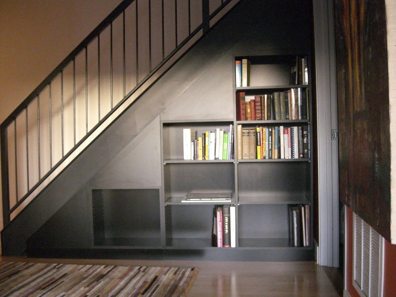 Furniture : Elegant Storage Under Stair Decor With Small Brown Regarding Best And Newest Computer Desks Under Stairs (View 10 of 20)
