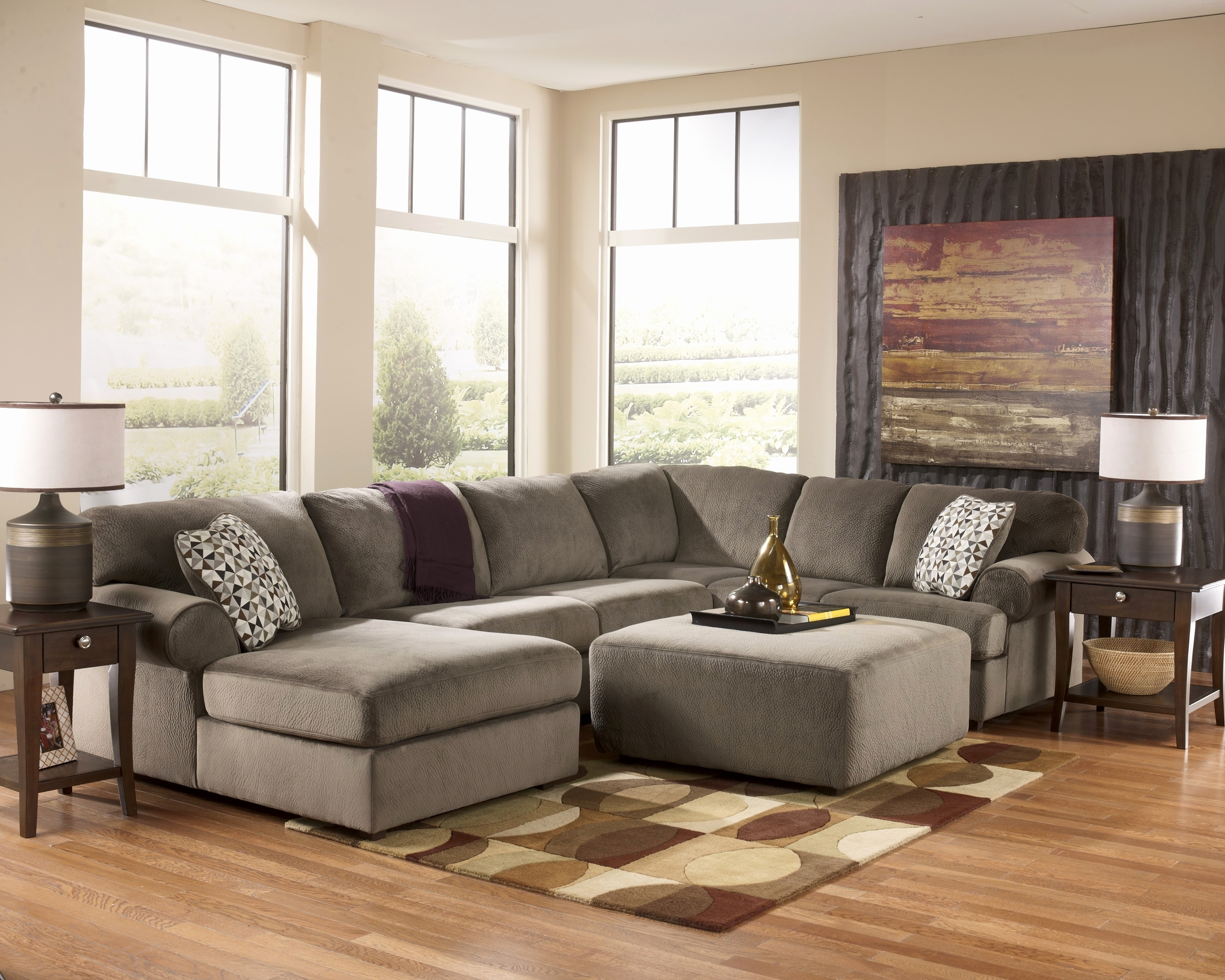 Furniture : Extra Large Sectional Sofa With Chaise And Ottoman U Pertaining To Well Known Sectional Sofas With Oversized Ottoman (View 4 of 20)
