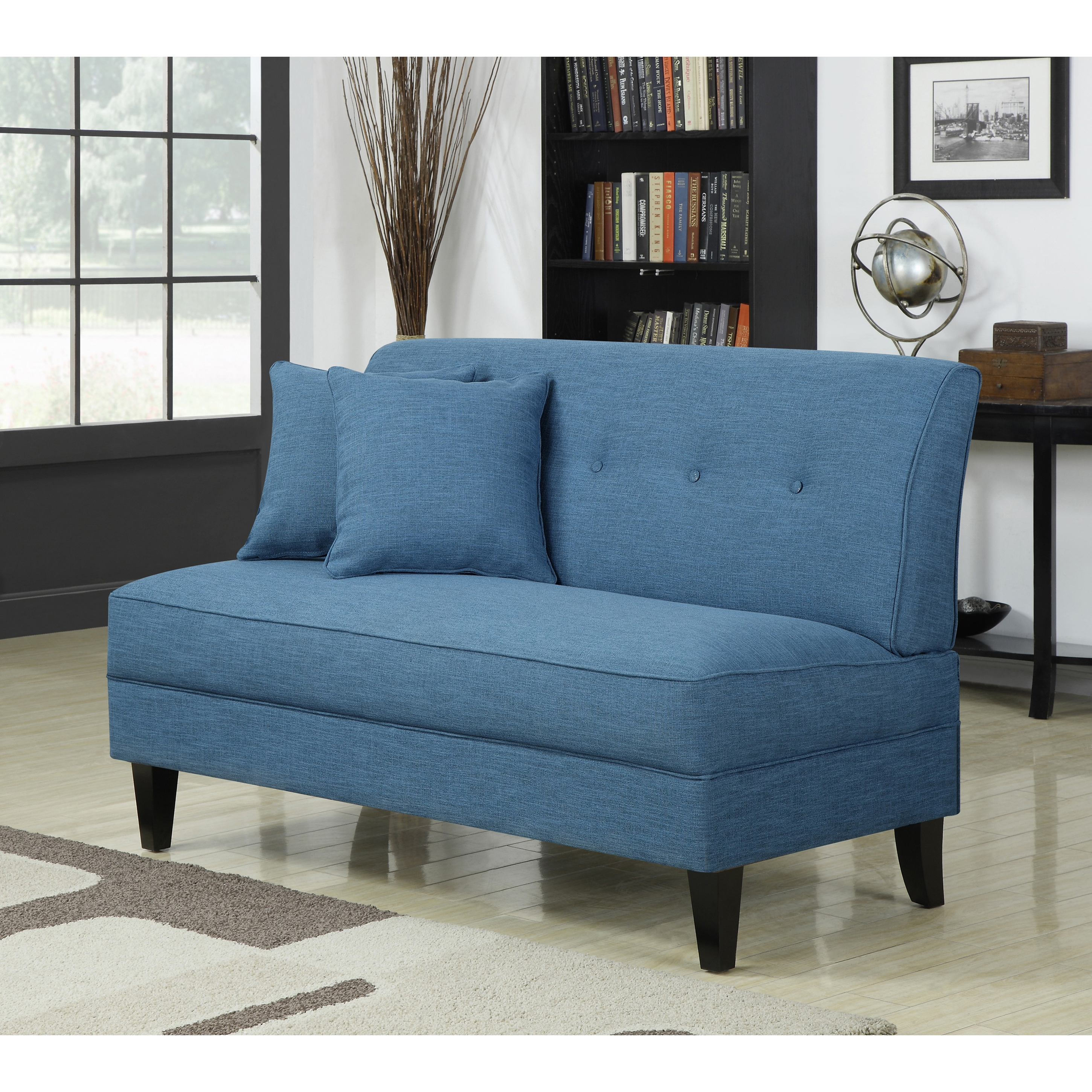 Furniture: Furniture Ideas: Armless Loveseat — Carolinacouture For Widely Used Small Armless Sofas (View 3 of 20)