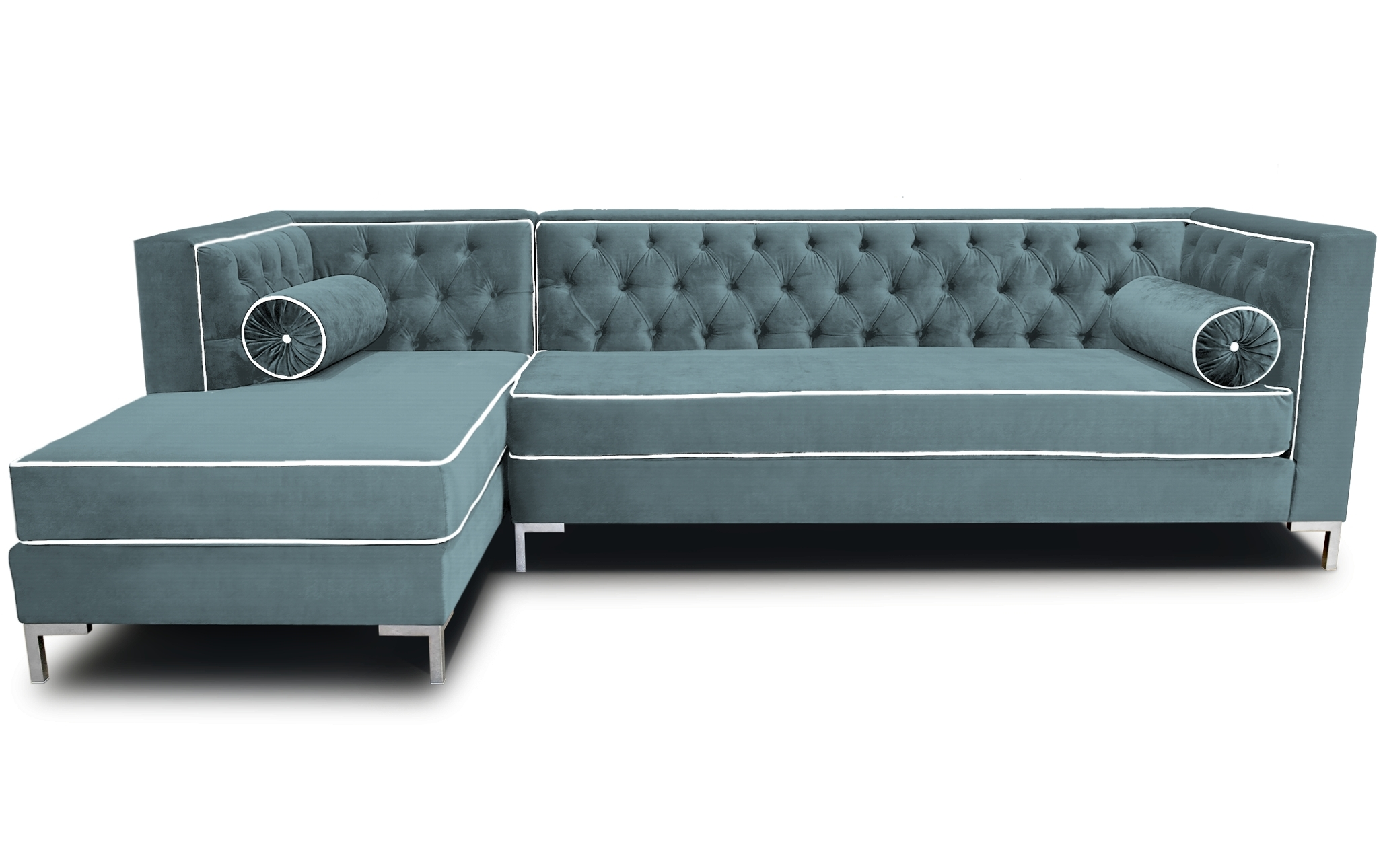 Furniture : Gray Fabric L Shape Sofa With Puffed Back Completed With Well Known L Shaped Sectional Sleeper Sofas (View 18 of 20)