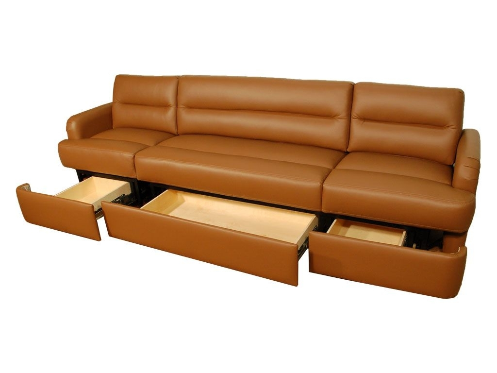 Furniture : Leather Wrap Around Couch Small Sectional Furniture With Regard To Fashionable Sectional Sofas With Storage (View 7 of 20)