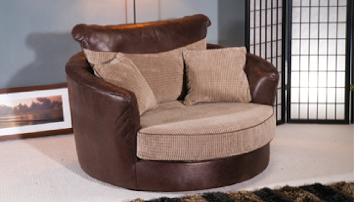 Furniture: Lovely Color Of Cuddler Chair For Sweet Home Furniture Intended For 2019 Sofas With Swivel Chair (View 3 of 20)