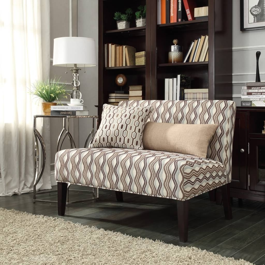 Furniture: Nice Armless Loveseat For Home Furniture Design With Pertaining To Widely Used Small Armless Sofas (View 4 of 20)