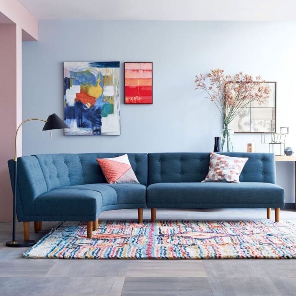 Furniture: Round Sectional Sofa From West Elm – 20 Modular Sofa For Most Recent West Elm Sectional Sofas (View 5 of 20)
