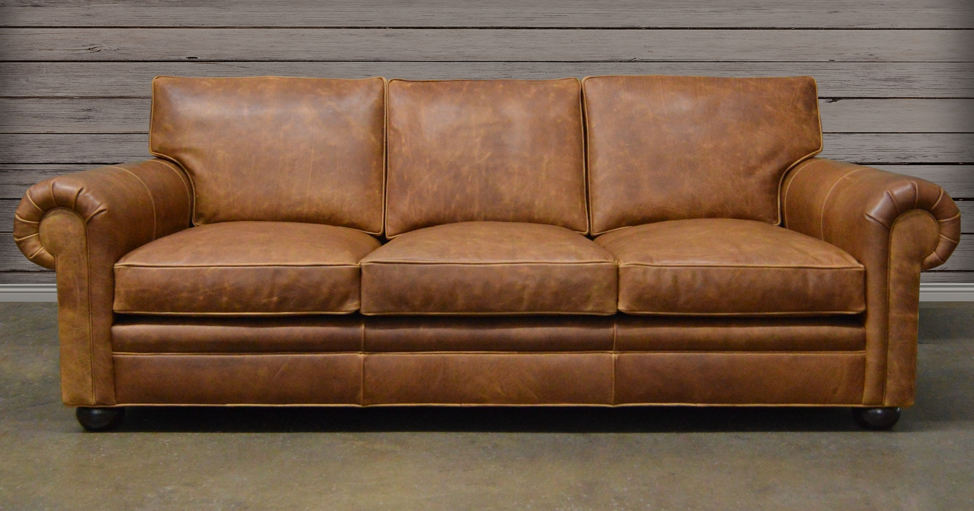 Furnitures: Classy Full Grain Leather Sofa For Luxury Living Room Intended For Recent Aniline Leather Sofas (View 14 of 20)