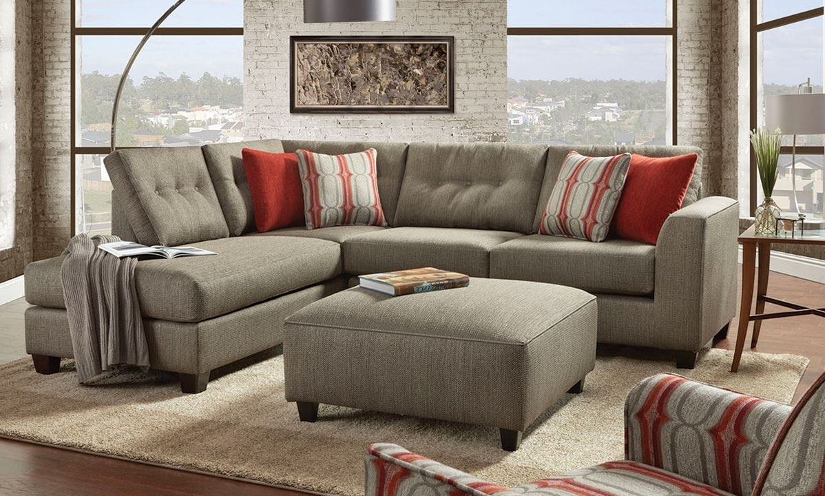 Fusion Handmade American Chaise Sectional Sofa With Ottom (View 16 of 20)