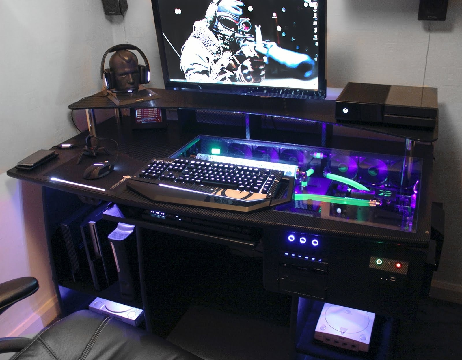 Gaming Computer Desks Inside Well Known Top 76 Killer Small Desk Gaming Computer Long Table Cool Desks (View 8 of 20)