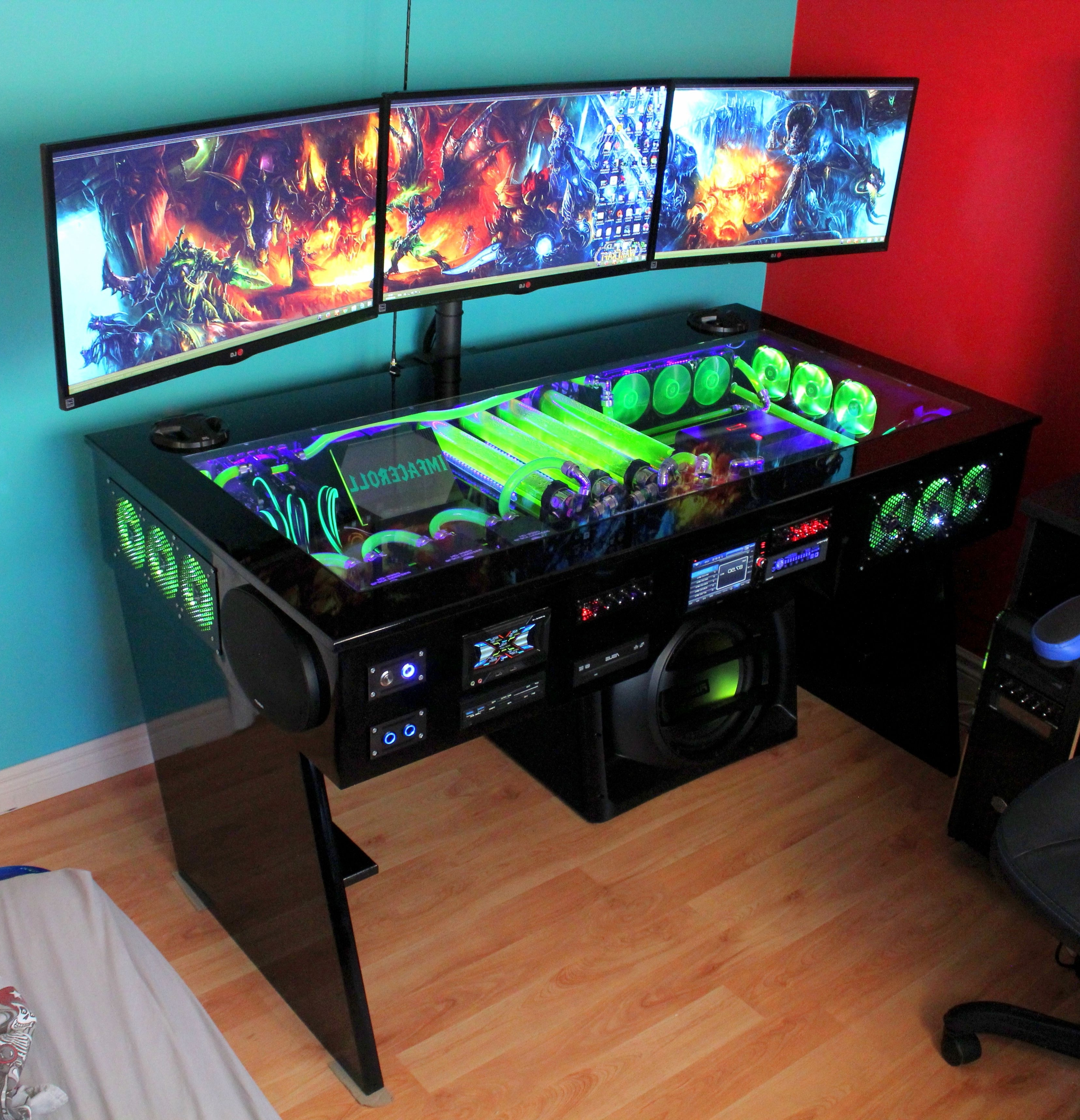 Gaming Computer Desks Within Preferred I Want Thaaaat…(41 Photos) (View 6 of 20)
