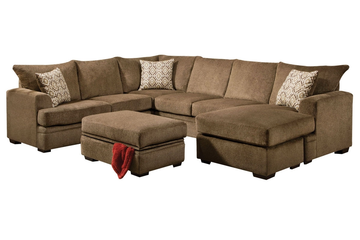 Gardner White Sectional Sofas With Well Known Fillmore Chenille Sectional At Gardner White (View 4 of 20)