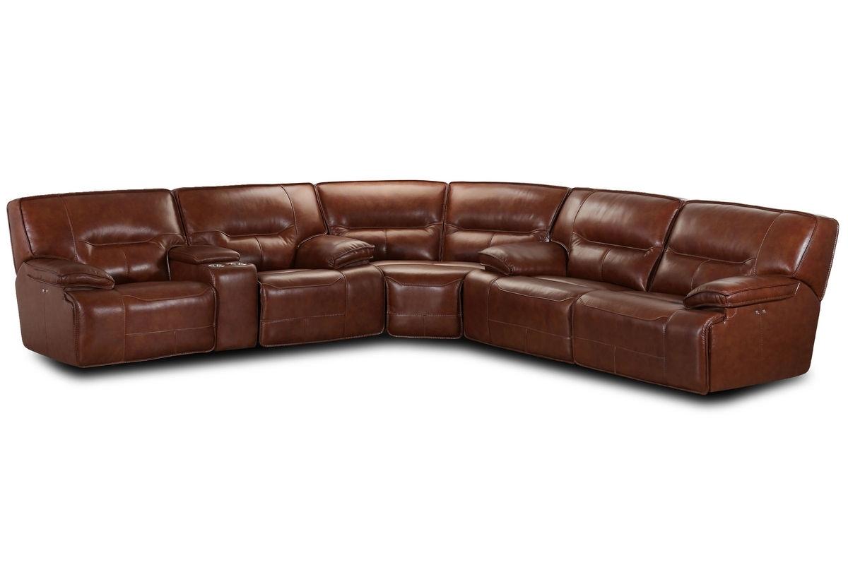 Gardner White Sectional Sofas Within Popular Drake Leather Power Reclining Sectional At Gardner White (View 14 of 20)