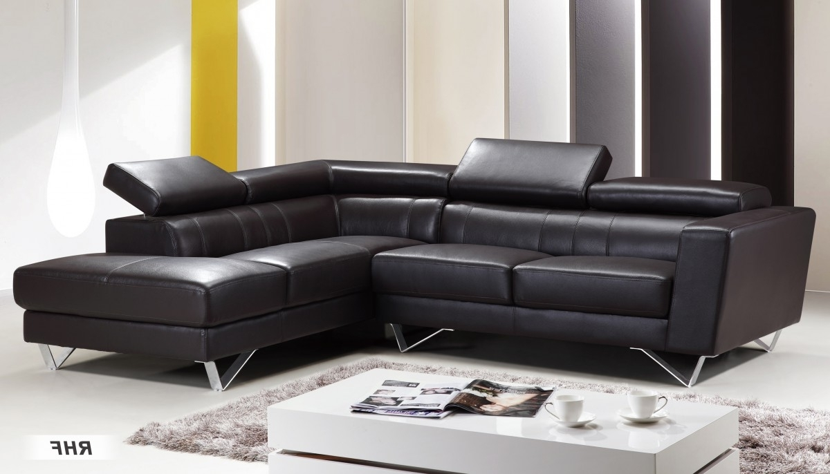 Genuine Italian Leather Sectional Sofa (Gallery 7 of 20)