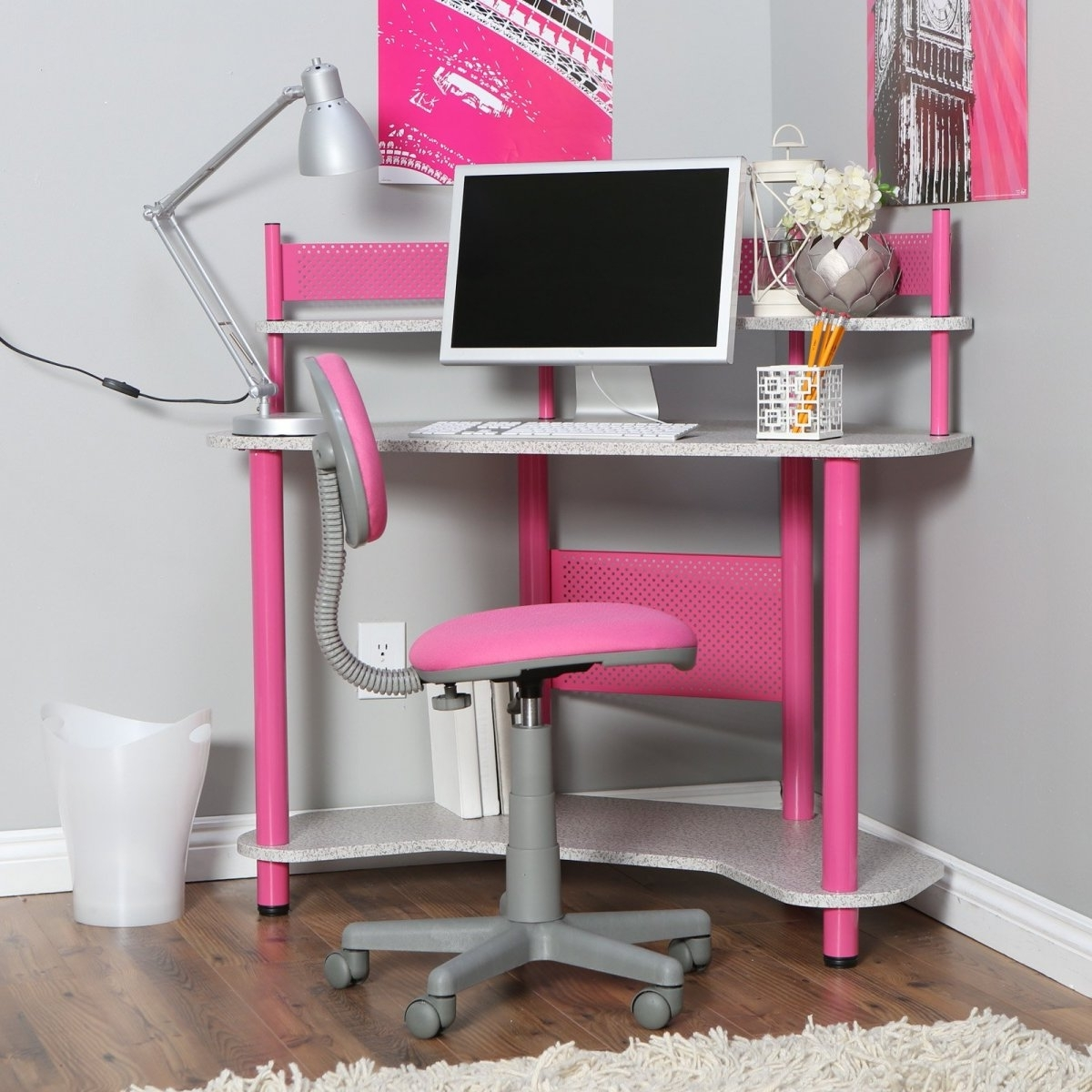 Girls Computer Corner Desks (Gallery 1 of 20)