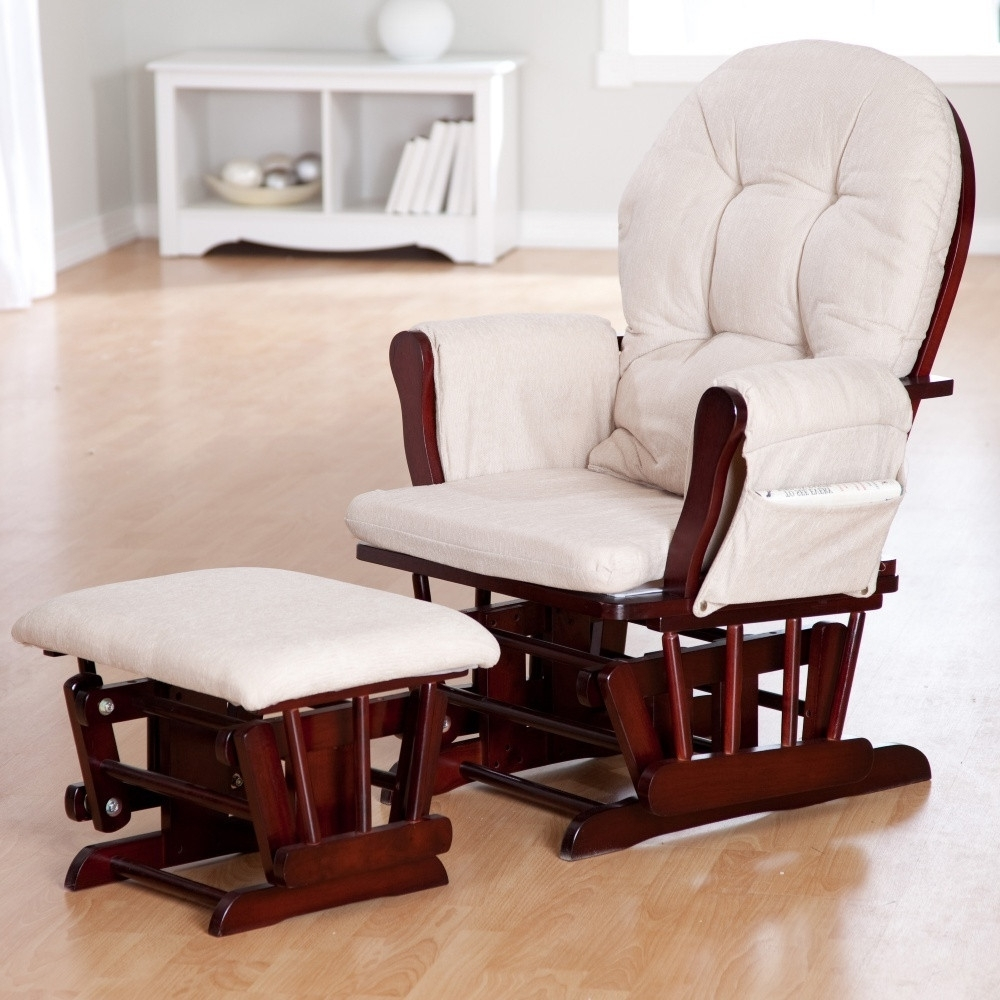 Gliders With Ottoman For Favorite White Gliding Chair With Ottoman — House Plan And Ottoman (View 7 of 20)