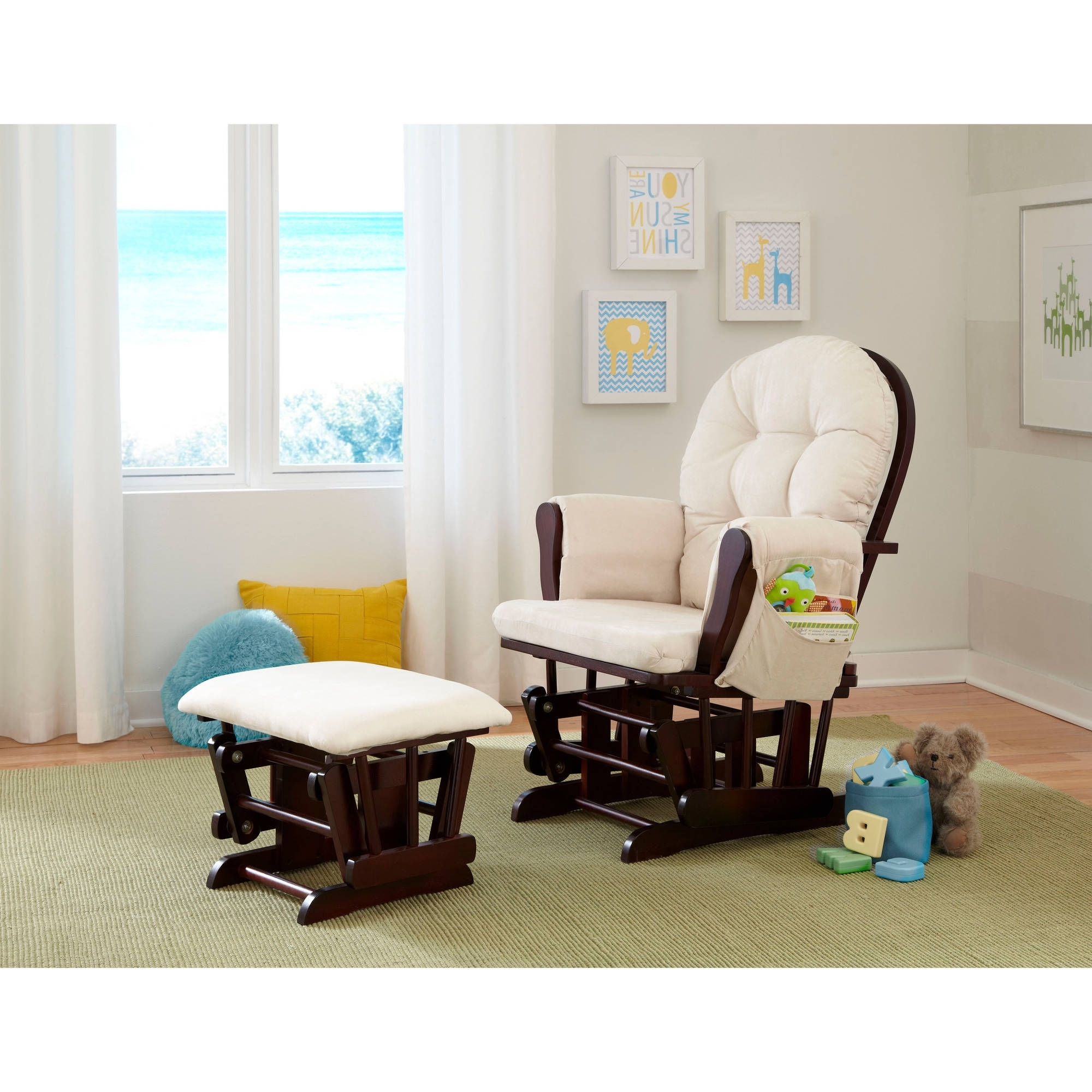 Gliders With Ottoman With Most Popular Storkcraft Malibu Glider And Ottoman Set Dark Brown – Walmart (View 10 of 20)