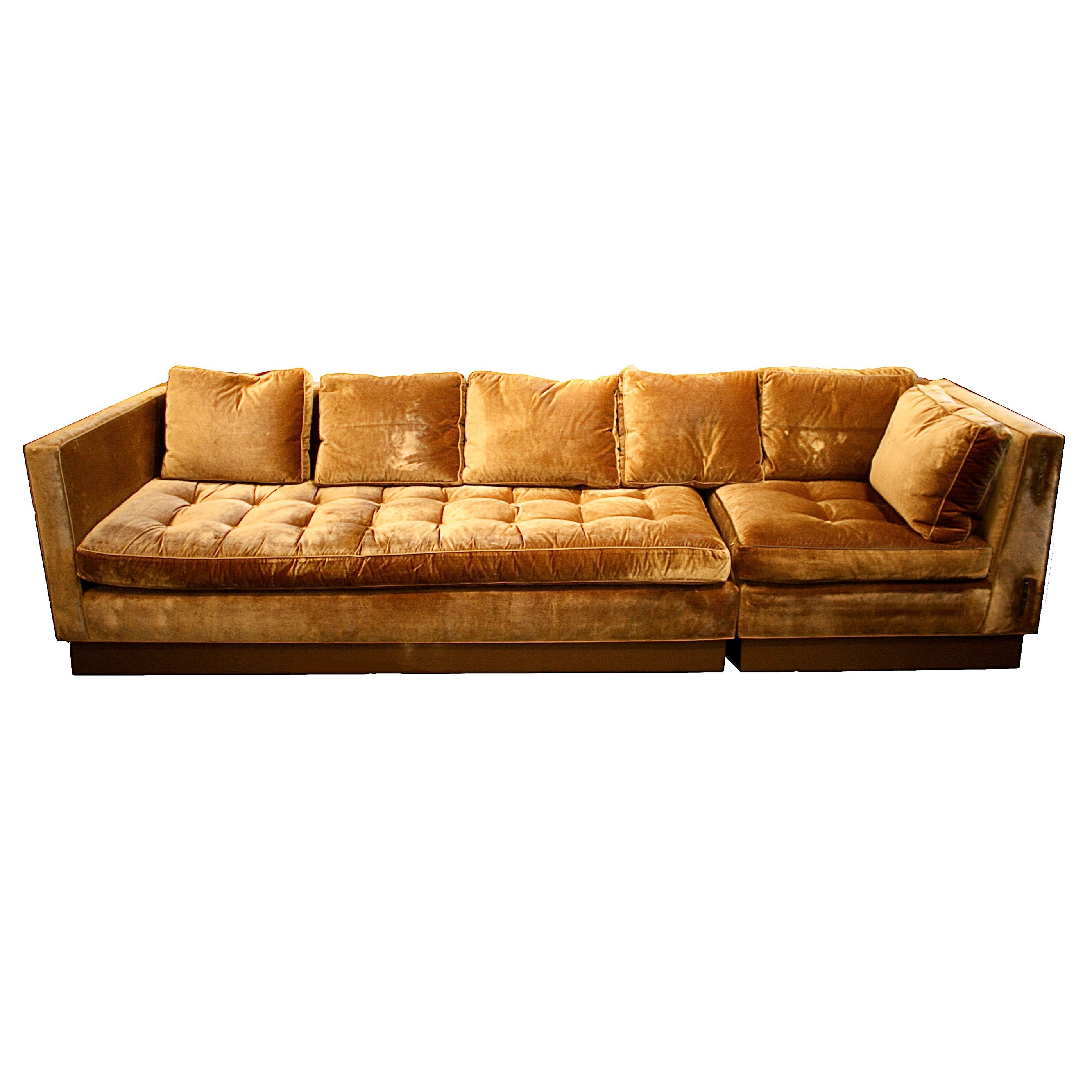 Gold Sectional Sofas Inside Latest Ancient Red Tone Sectional Sofa Bed And Love Seat As Well As Grey (View 8 of 20)