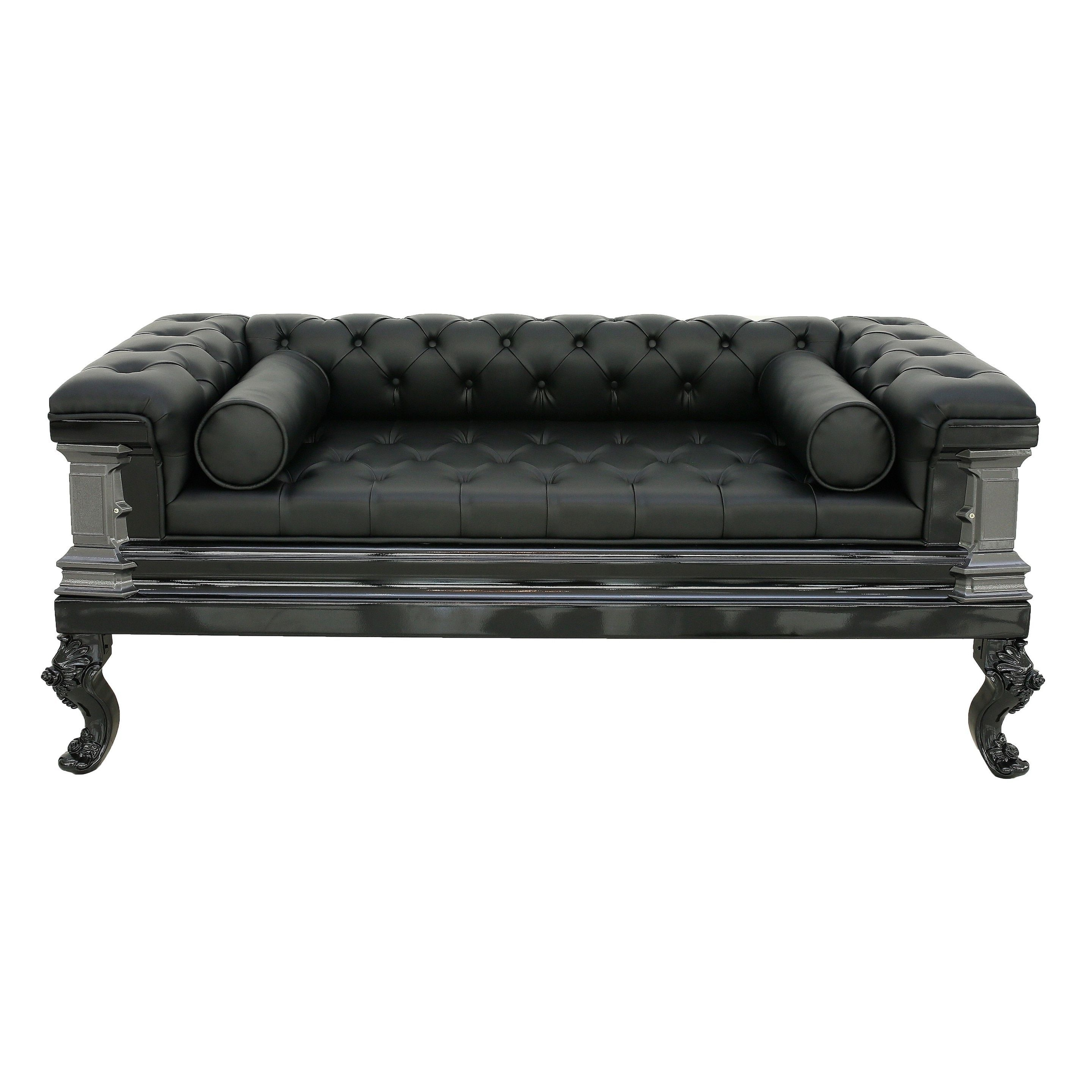 Gothic, Black Leather Sofas (Gallery 2 of 20)