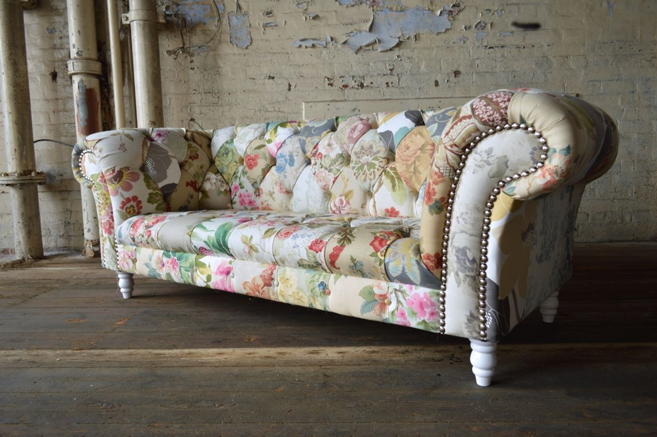 Grace Patchwork Chesterfield Sofa (Gallery 3 of 20)