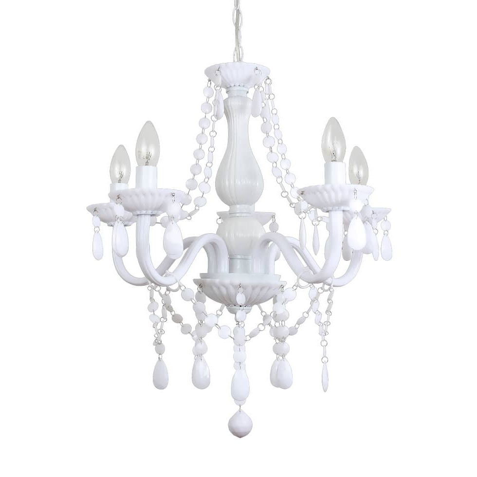 Graceful Small Chandeliers Lowes 23 Chandelier Floor Lamp Brushed Inside Well Known Small White Chandeliers (View 5 of 20)