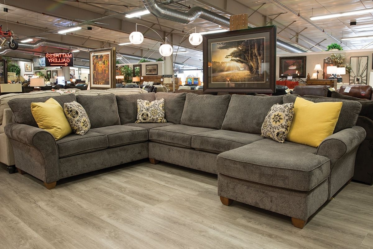 Grande Prairie Ab Sectional Sofas With Regard To Current Stanton 320 Cornell Pewter 3 Piece Sectional (View 11 of 20)