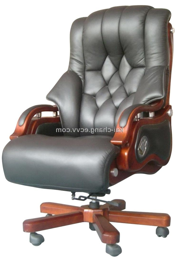 Gray Leather Executive Office Chair • Office Chairs Inside Best And Newest Executive Office Chairs (View 17 of 20)