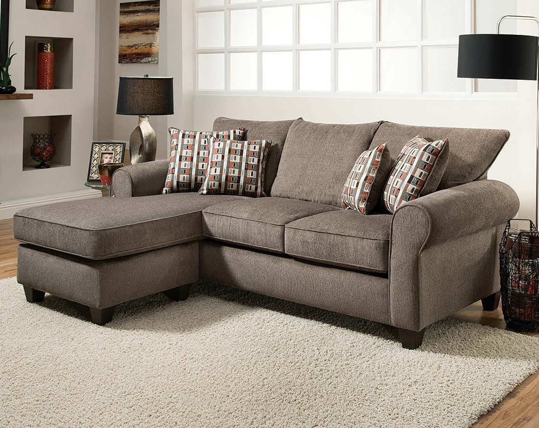 Gray Reversible Chaise Sofa (View 2 of 20)