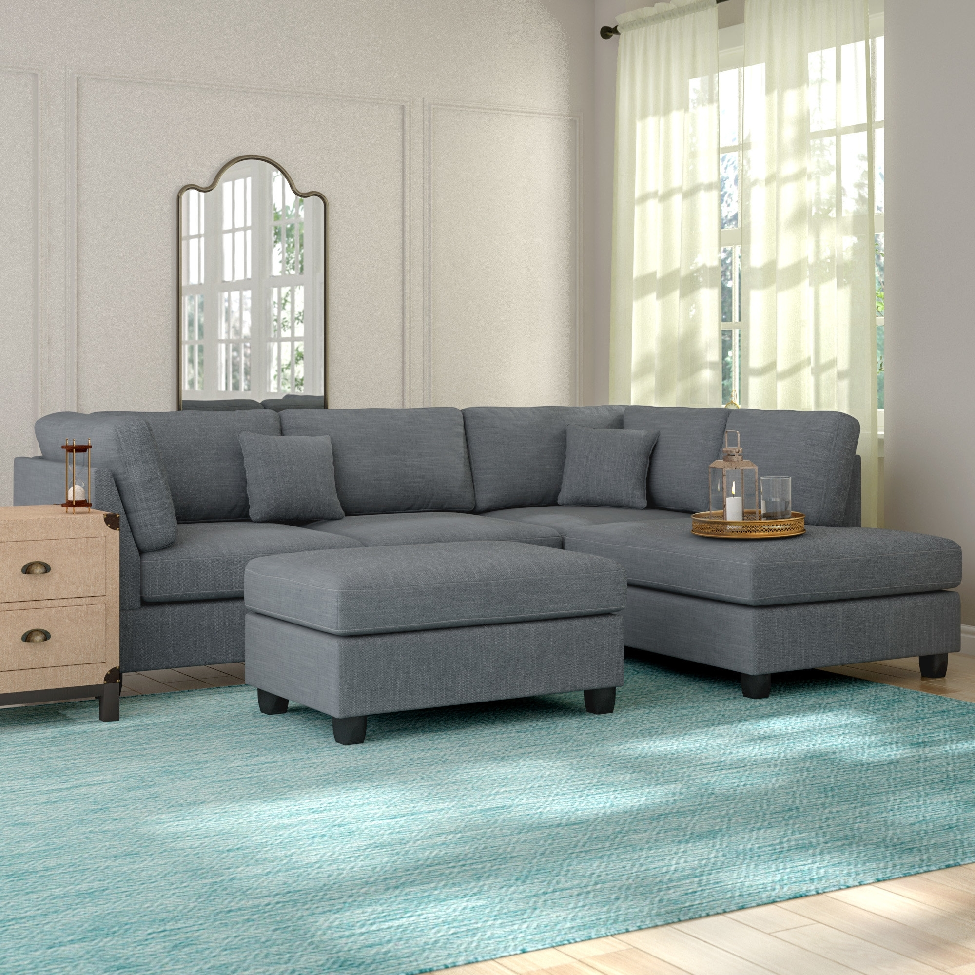 Gray Sectional Couch You'll Love (Gallery 6 of 20)