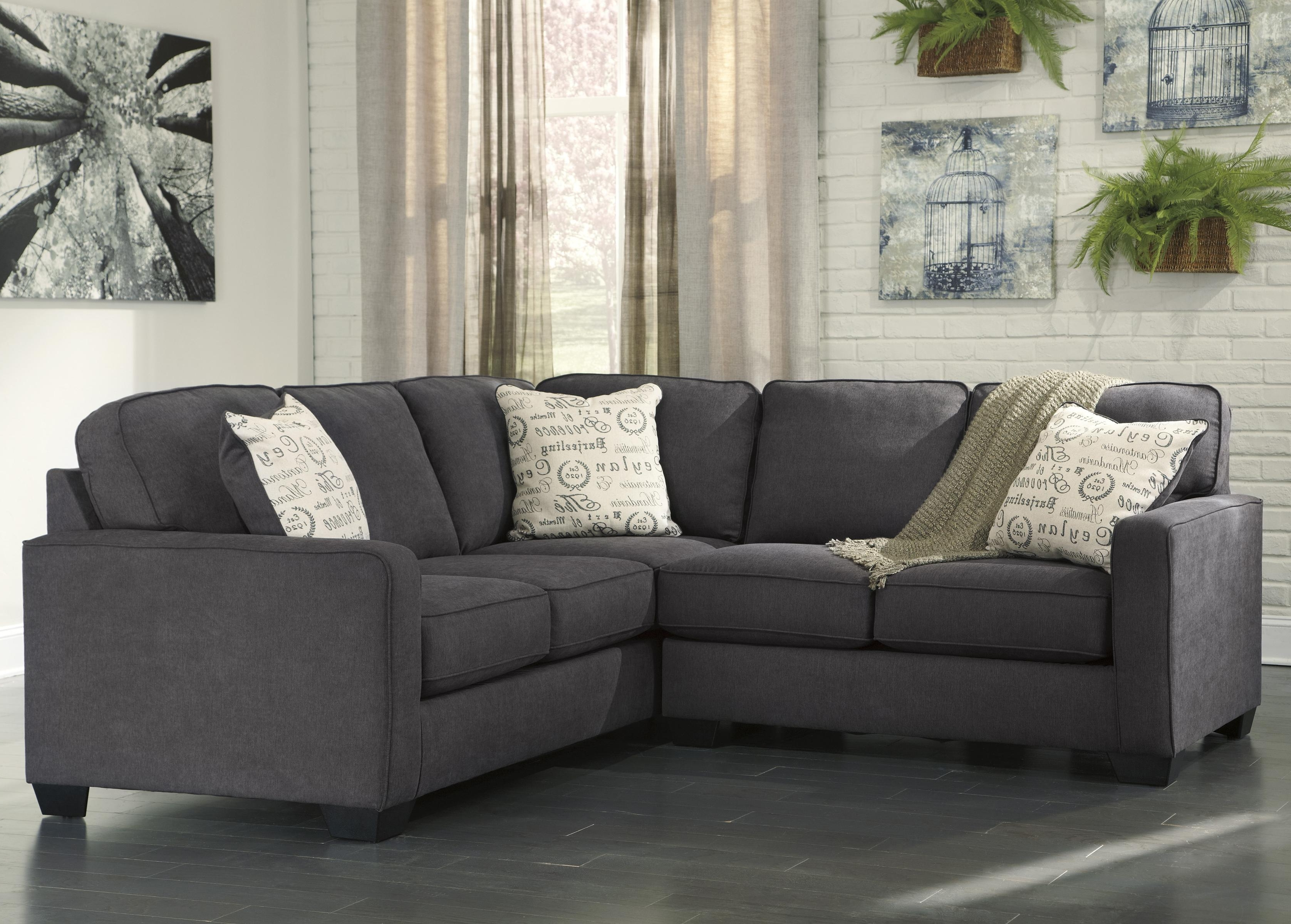 Green Bay Wi Sectional Sofas Pertaining To Most Popular Signature Designashley Alenya – Charcoal 2 Piece Sectional (View 10 of 20)