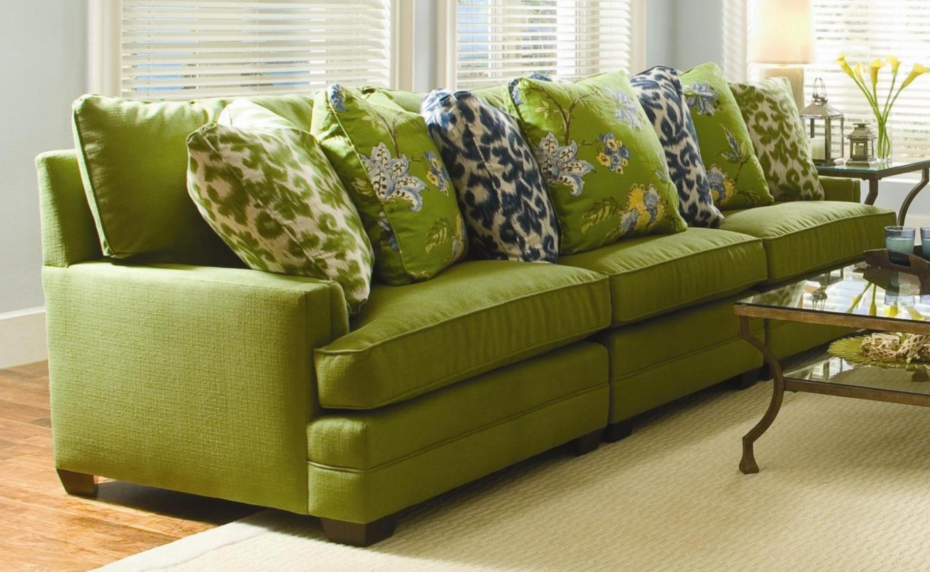 Green Leather Sectional Sofa – Tantani.co Throughout 2018 Wilmington Nc Sectional Sofas (Gallery 11 of 20)