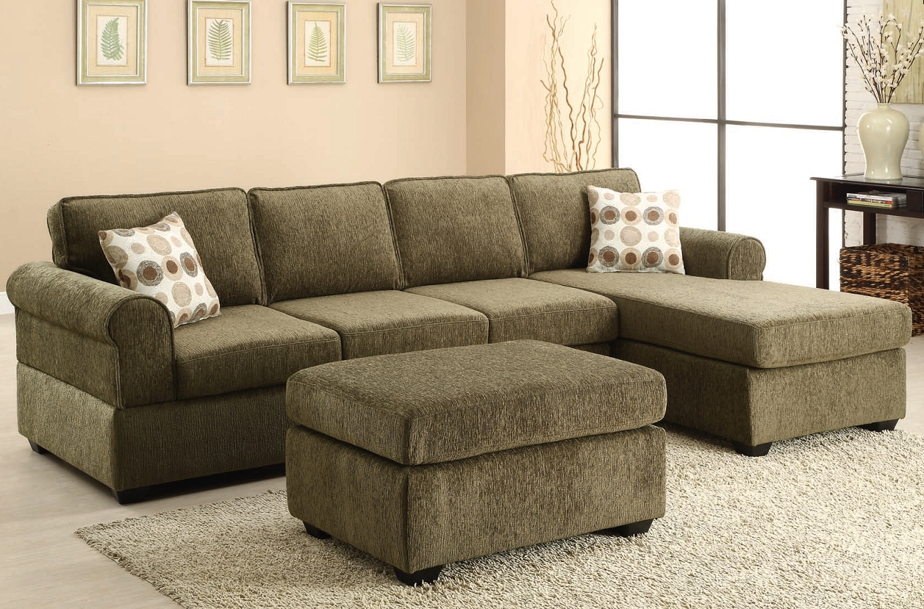Green Sectional Sofas With Chaise Intended For Most Recent The Jensen Tarragon Reversible Sectional Sofa In Sage Green (View 5 of 20)