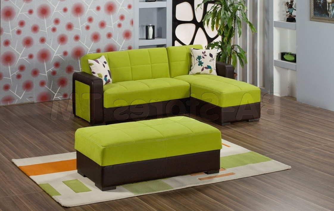 Green Sectional Sofas With Chaise With Regard To Preferred Apple Green Sofa – Home Design Ideas And Pictures (Gallery 19 of 20)
