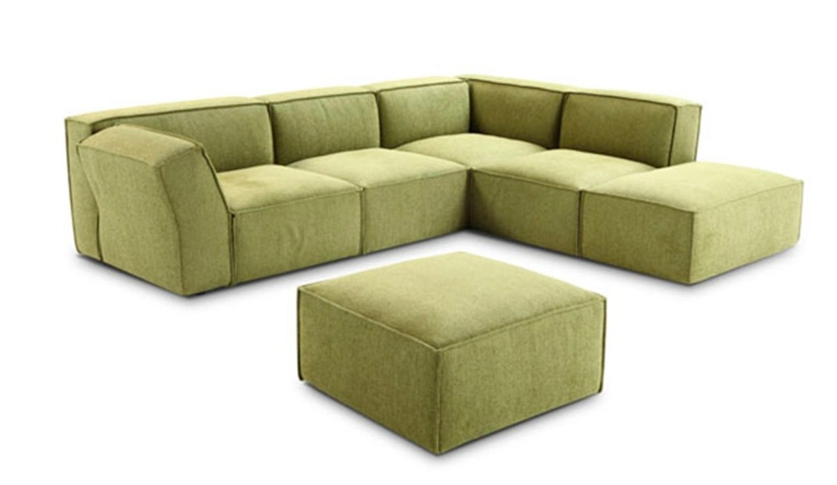 Green Sectional Sofas With Favorite Modern Green Fabric Sectional Sofa (View 12 of 20)
