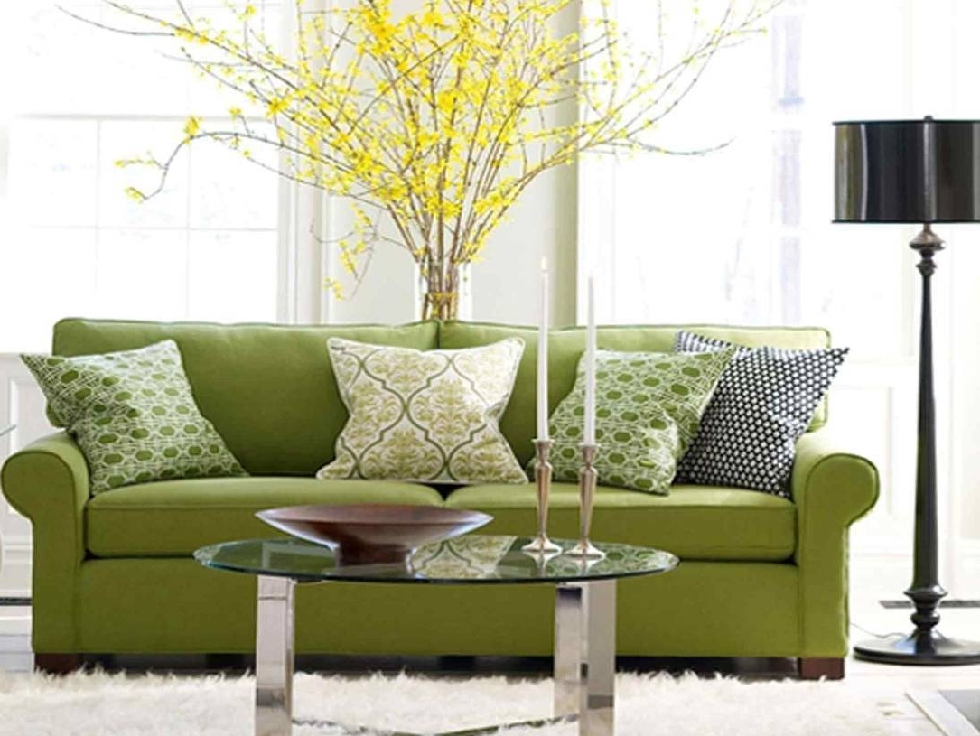Green Sofa Chairs Intended For Most Recent Selecting The Dressage Cushions For Sofa Or Chairs (View 6 of 20)