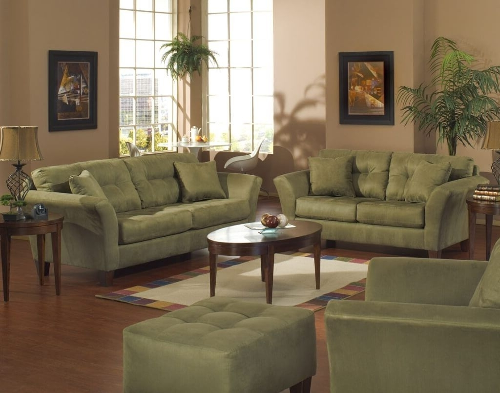 Green Sofa Chairs Throughout Trendy Furniture: Oval Wooden Living Room Coffee Table And End Tables (View 18 of 20)