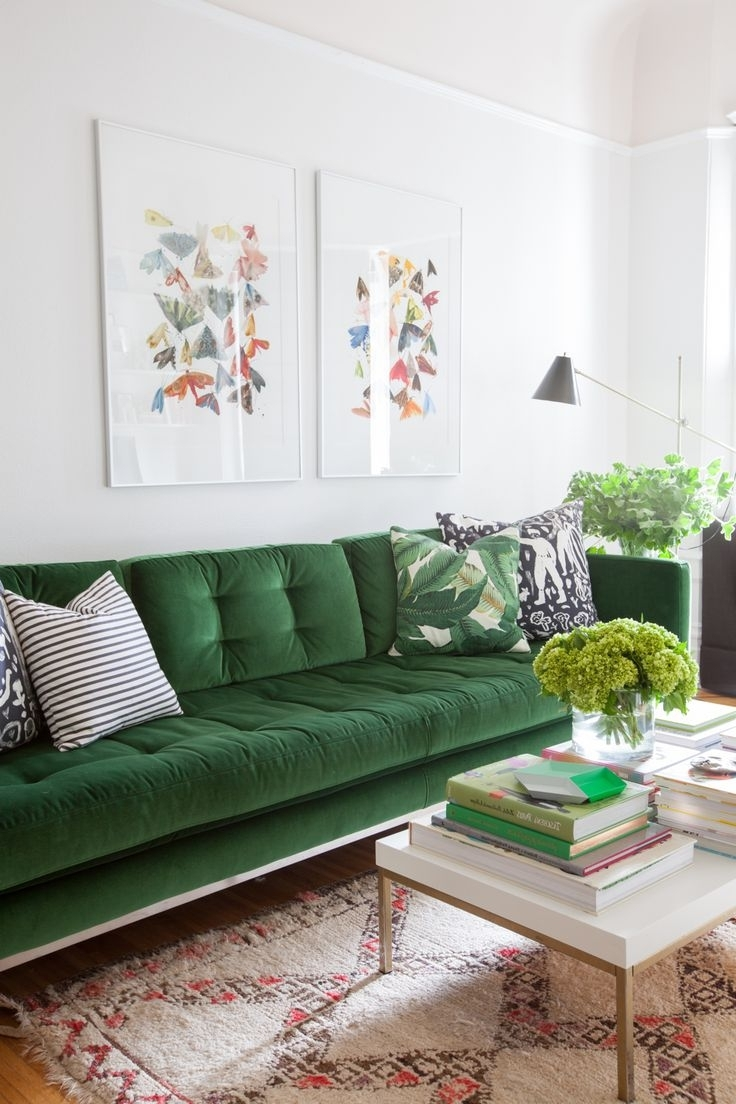 Green Sofa Chairs With Current 38 Best Green Couch Images On Pinterest (Gallery 20 of 20)