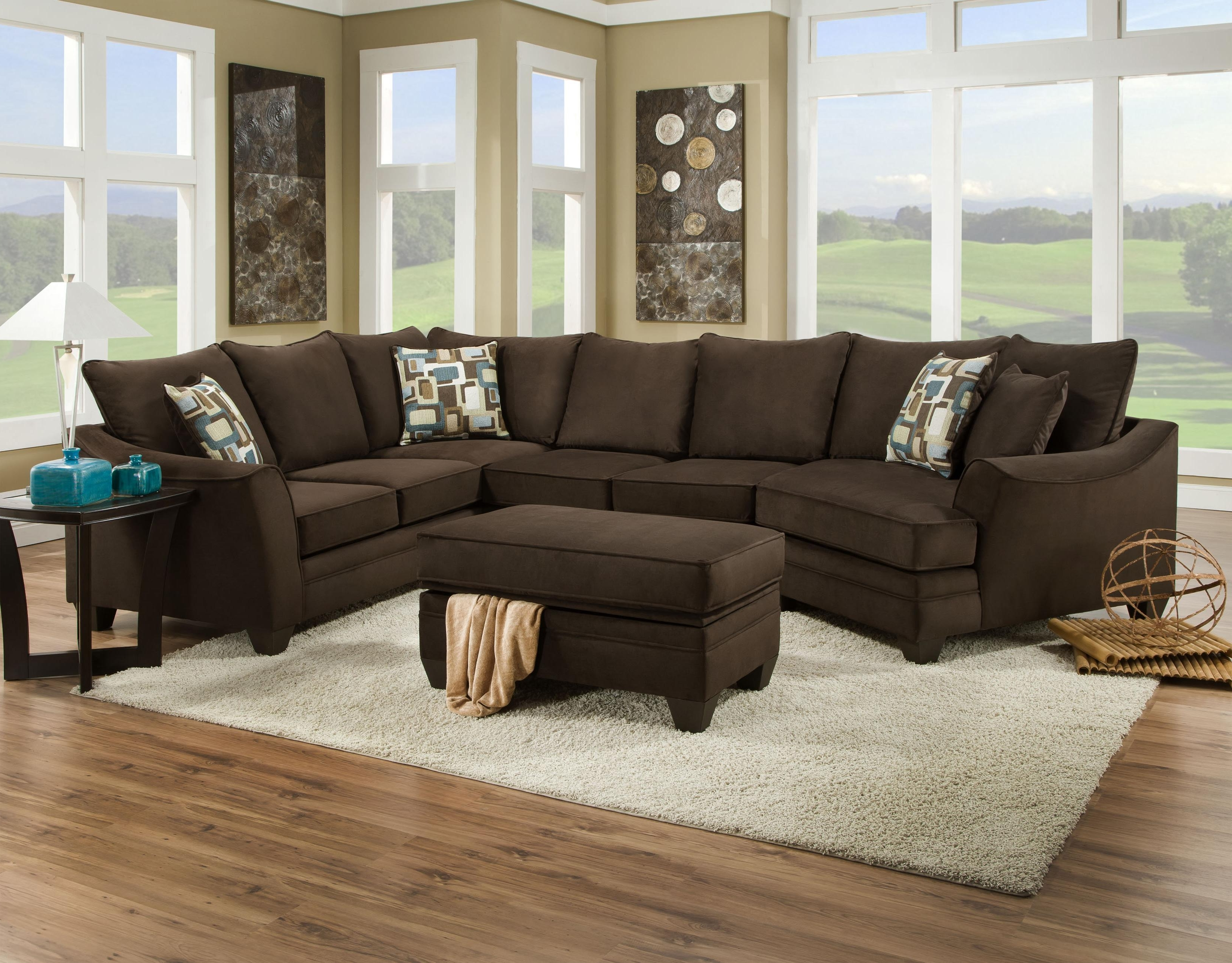 Greenville Nc Sectional Sofas In Most Recent American Furniture 3810 Sectional Sofa That Seats 5 With Left Side (View 14 of 20)