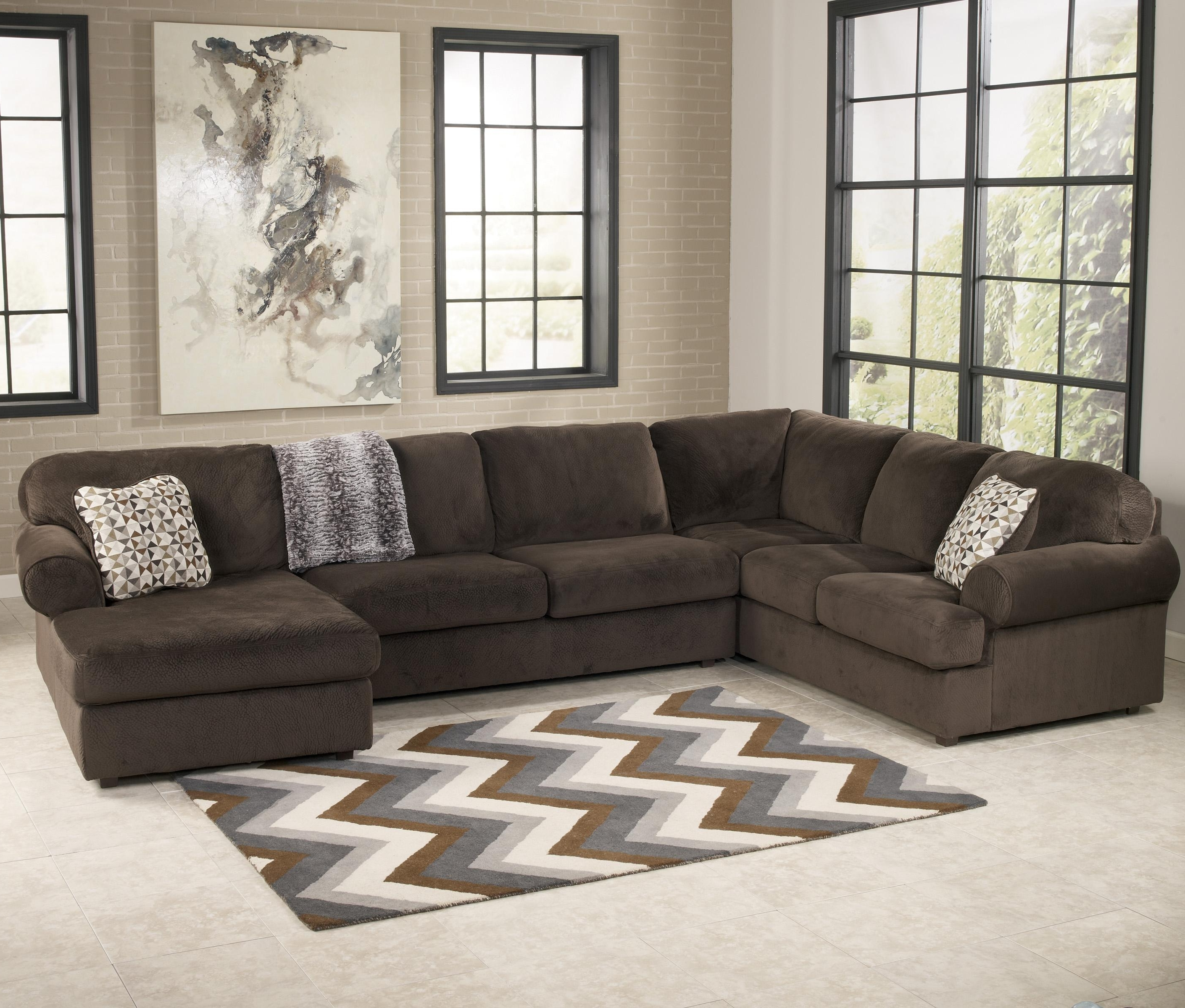 Greenville Nc Sectional Sofas Within Best And Newest Signature Designashley Jessa Place – Chocolate Casual (Gallery 8 of 20)