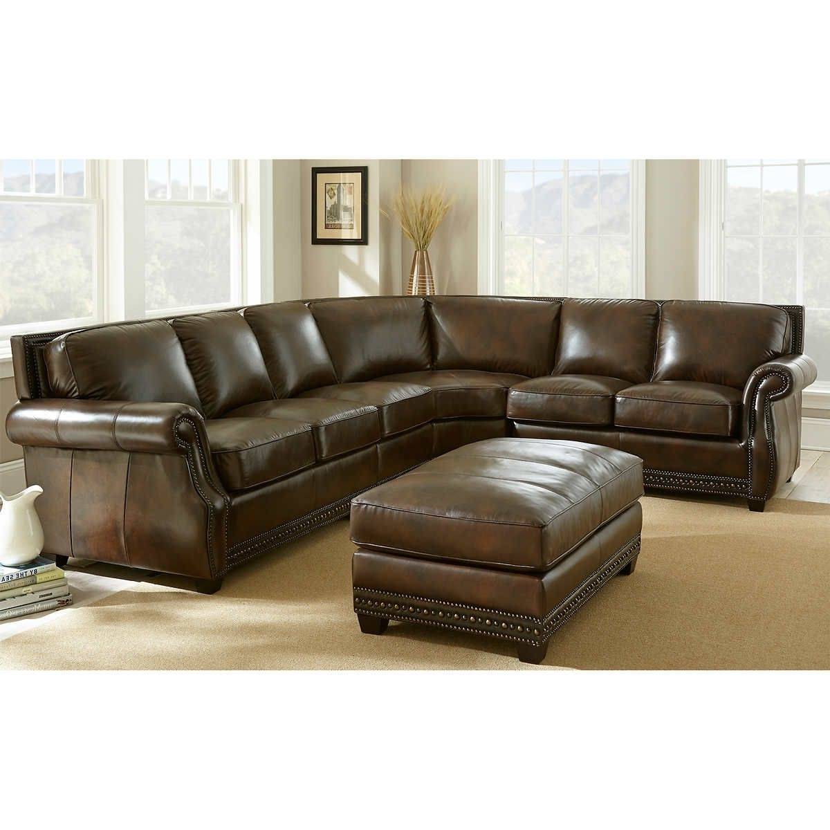 Greenville Sc Sectional Sofas Pertaining To Favorite Awesome Leather Couch Sectional , New Leather Couch Sectional (View 5 of 20)
