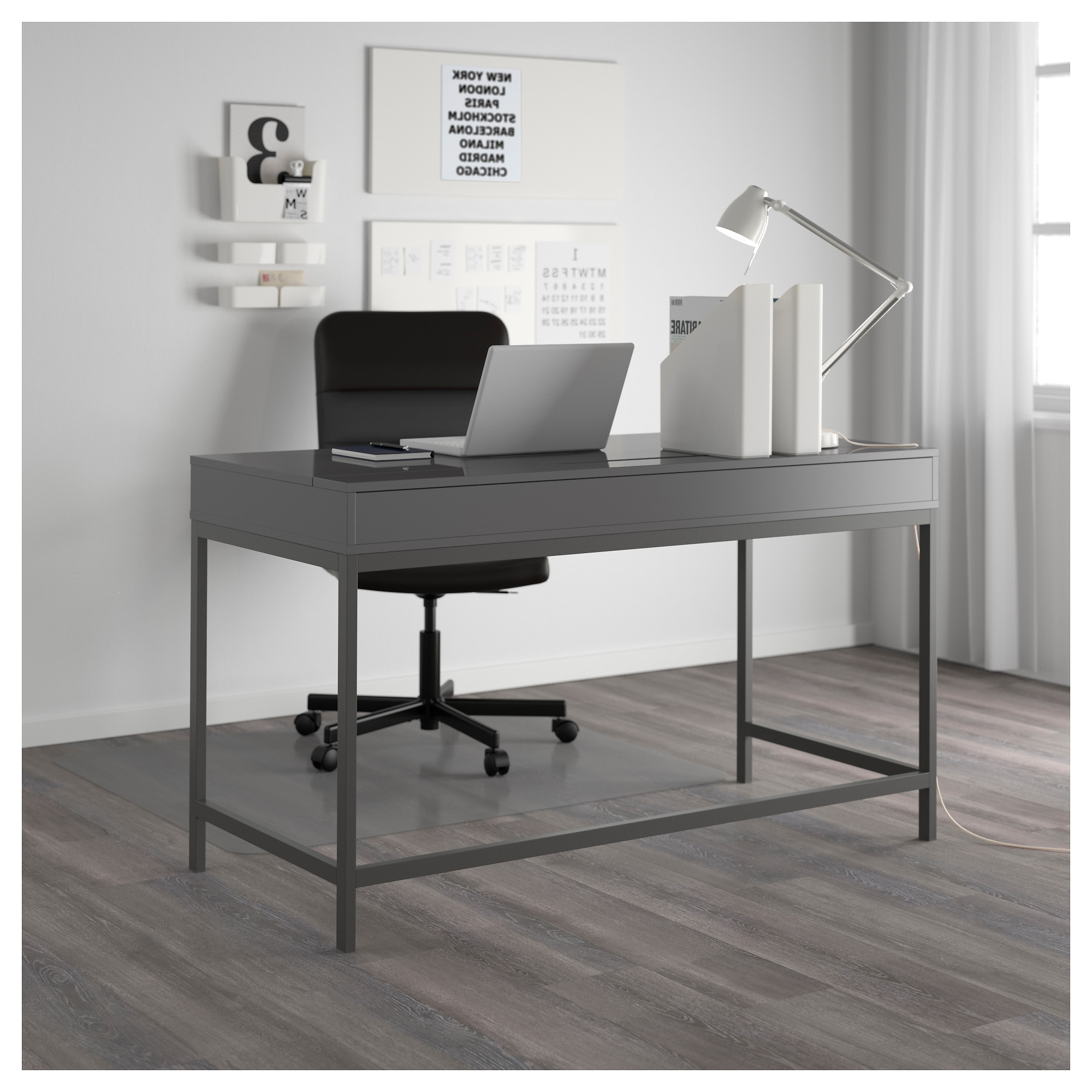 Grey Computer Desks For 2019 Alex Desk – Gray – Ikea (Gallery 3 of 20)