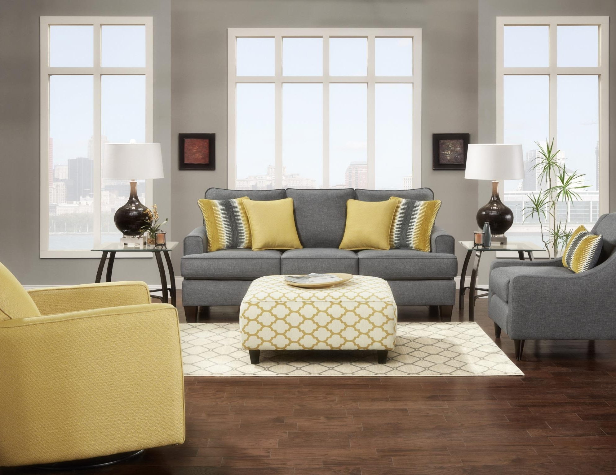Grey Sofa Chairs With Regard To Fashionable Maxwell Grey Sofa And Love Seat Matching Accent Chair Available (Gallery 1 of 20)