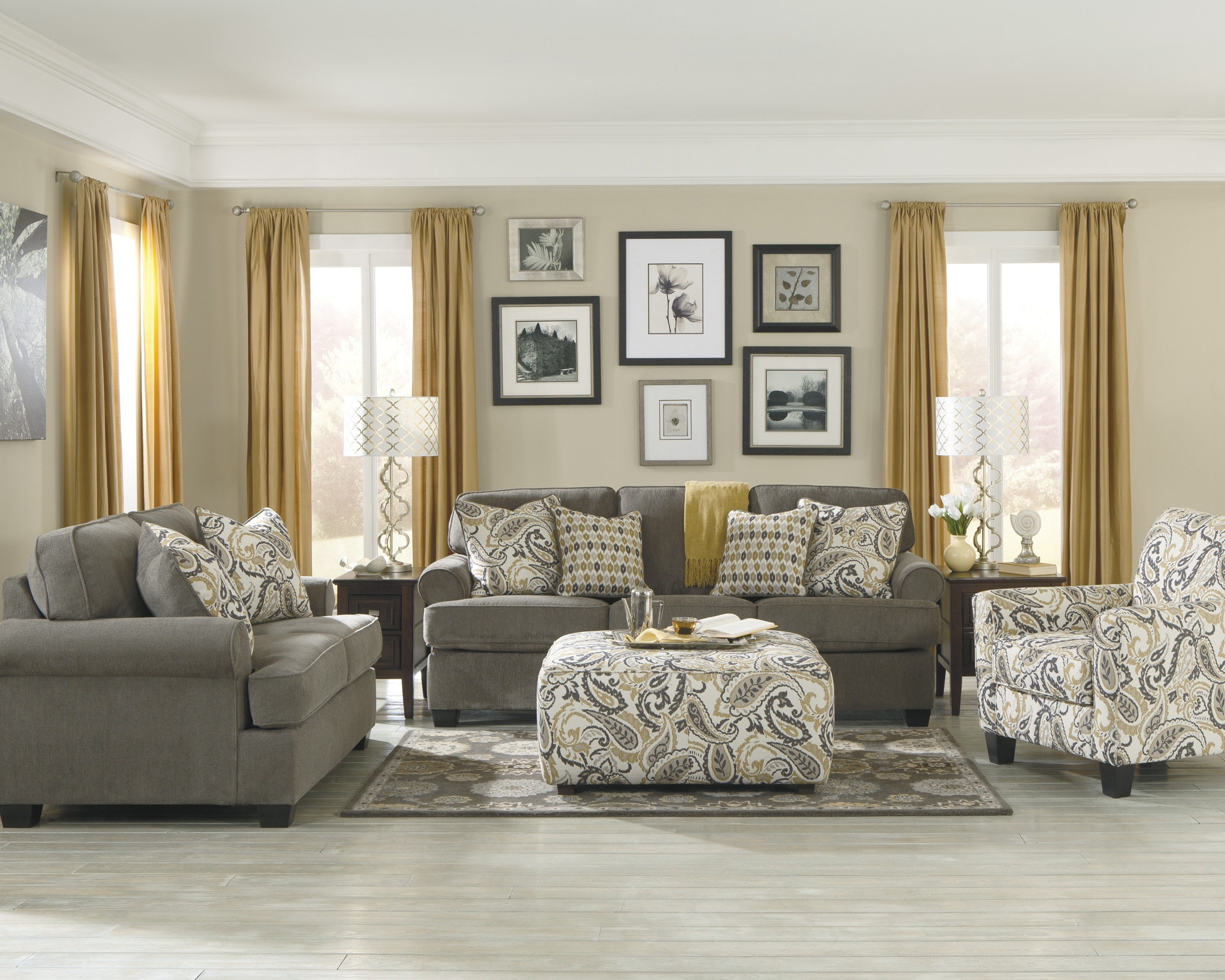 Grey Sofa Chairs Within Widely Used Living Room (View 14 of 20)
