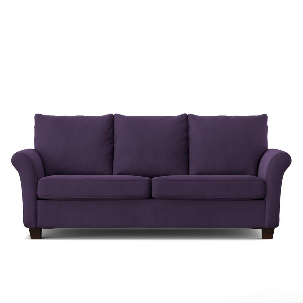 Handy Living Rockford Sofast Sofa In Purple Velvet Rkf Sx Vbl79 Pertaining To Recent Velvet Purple Sofas (View 5 of 20)