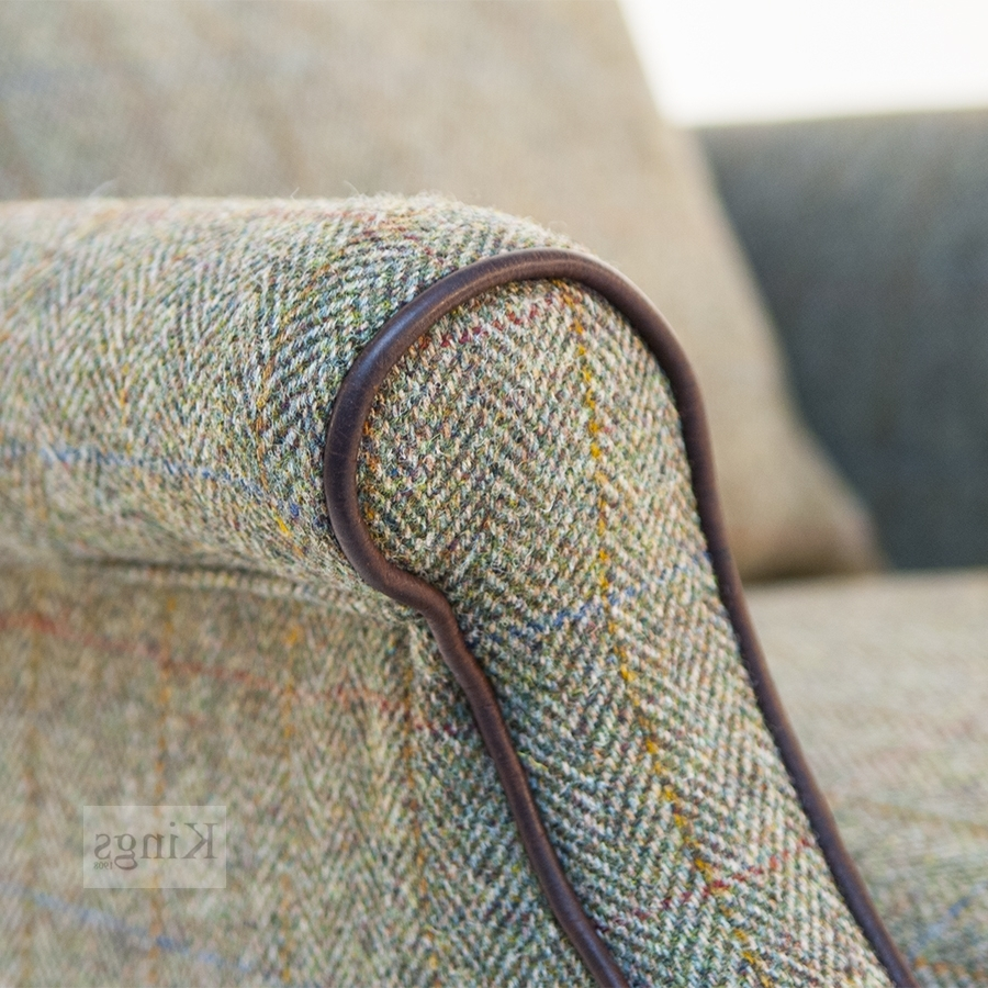 Harris Tweed Bowmore Chair Pertaining To Widely Used Tweed Fabric Sofas (View 11 of 20)