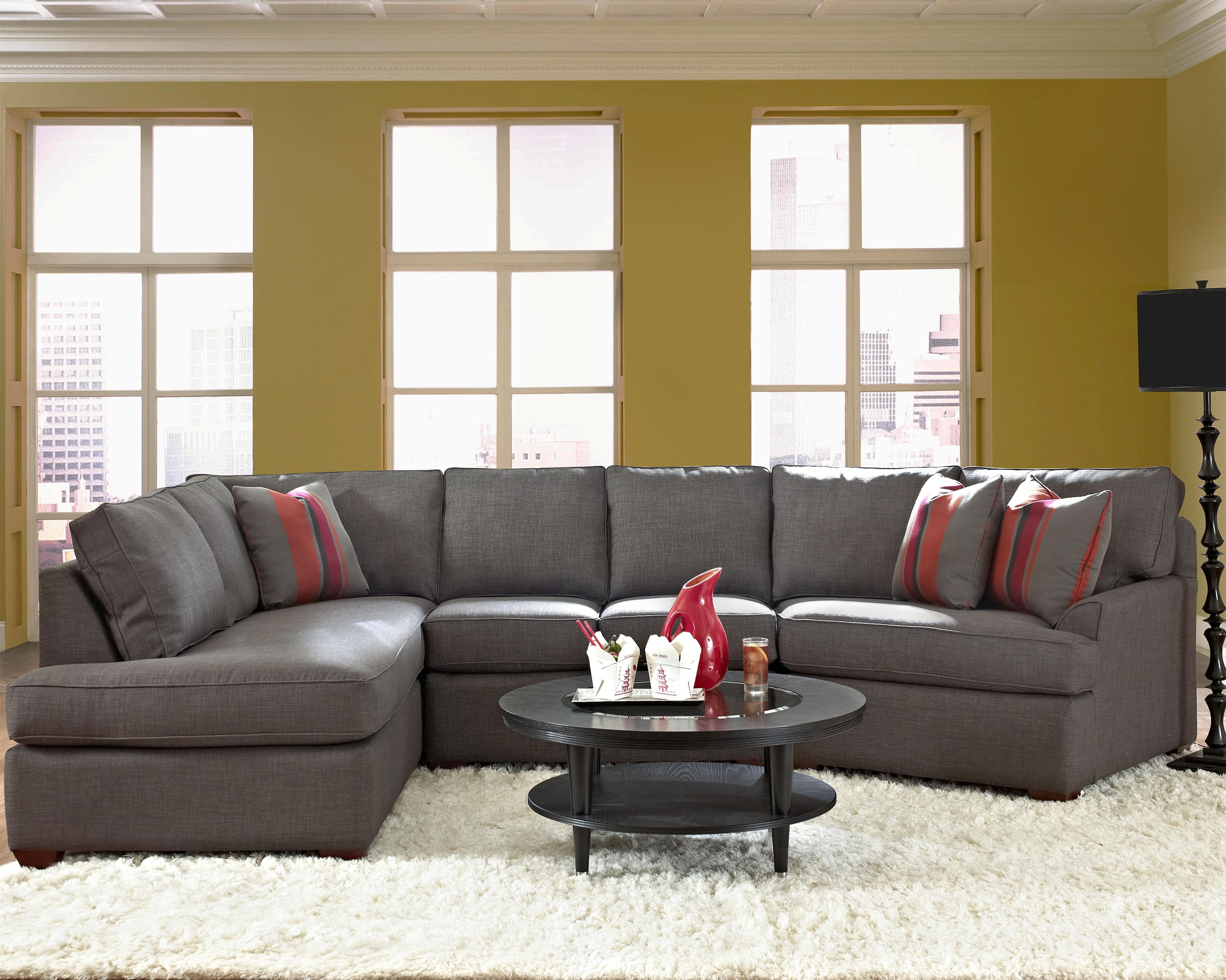 Harrisburg Pa Sectional Sofas Intended For Favorite Klaussner Grady Contemporary Sectional Sofa With Right Chaise (View 5 of 20)