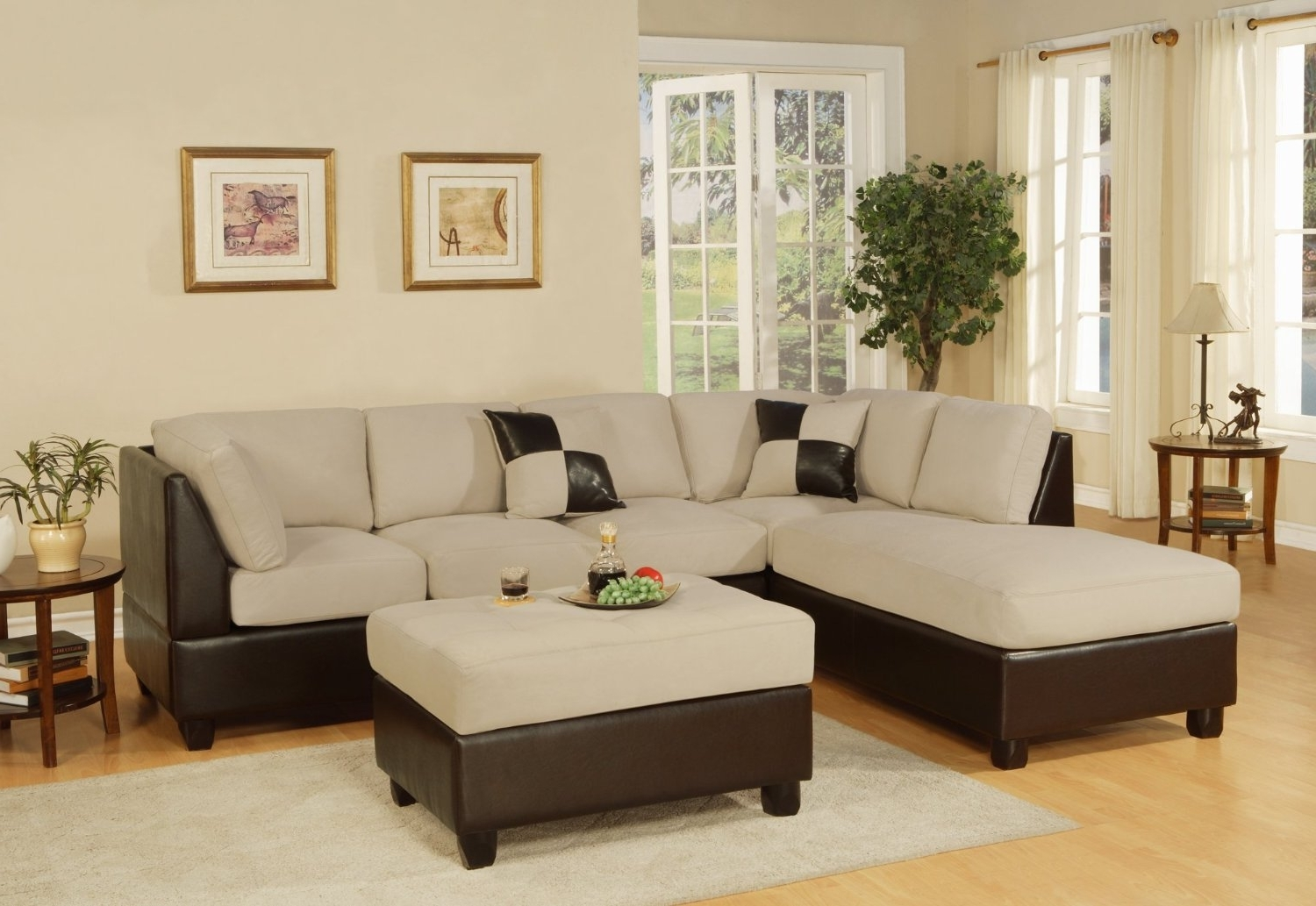 Hawaii Sectional Sofas Inside Fashionable Furniture : Microfiber Costco Sectional Sofa Furnitures (View 7 of 20)